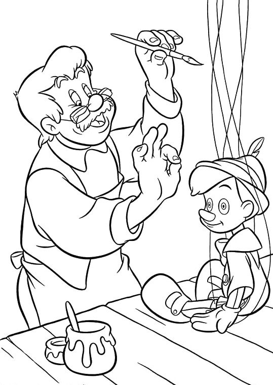 Decorate A Puppet Pinocchio Coloring Pages Daycare Worksheets