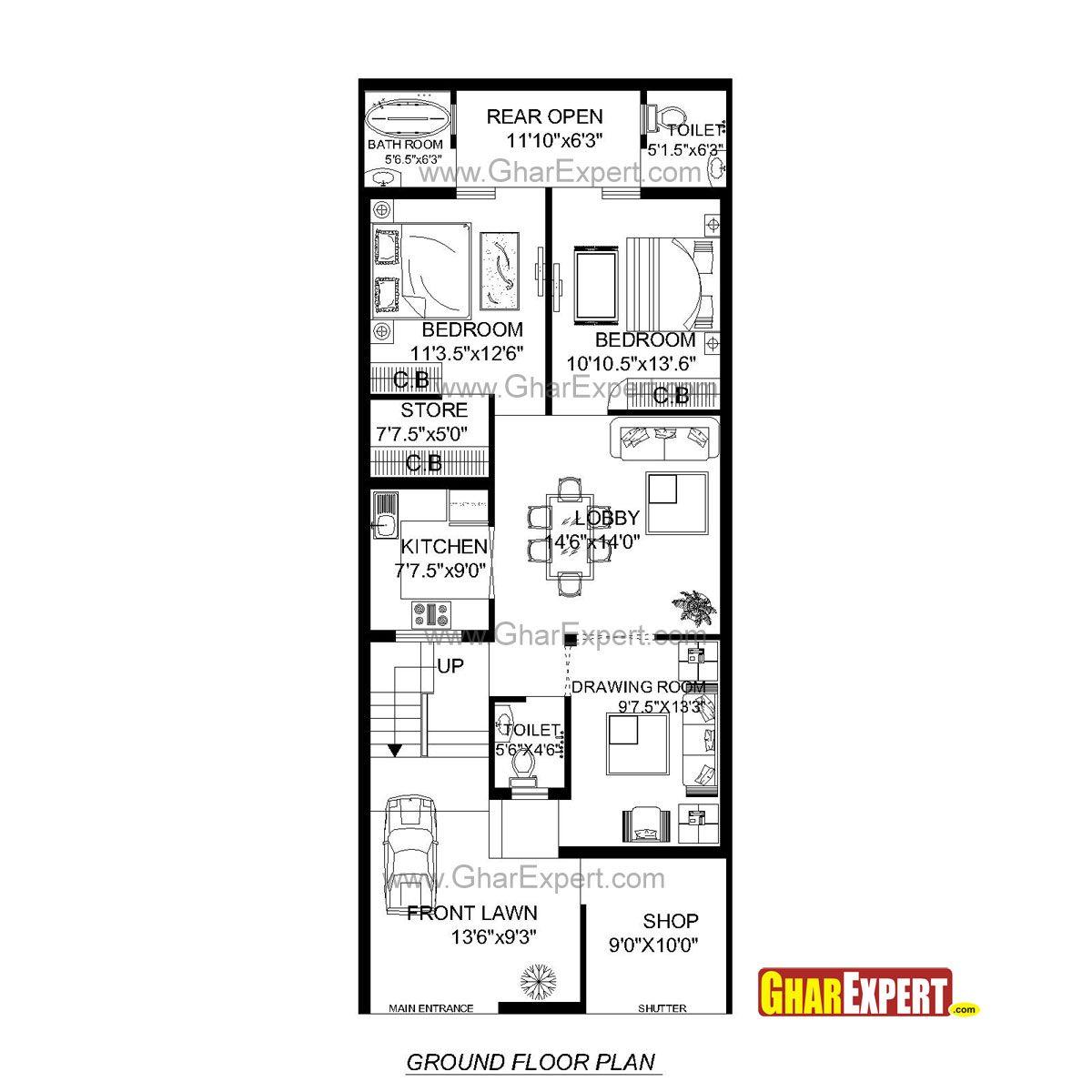 Lovely Design Ideas 5 Building Plans For 20x60 Plot House