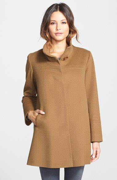 Fleurette Wool Stand Collar Car Coat (Regular & Petite) (Nordstrom ...