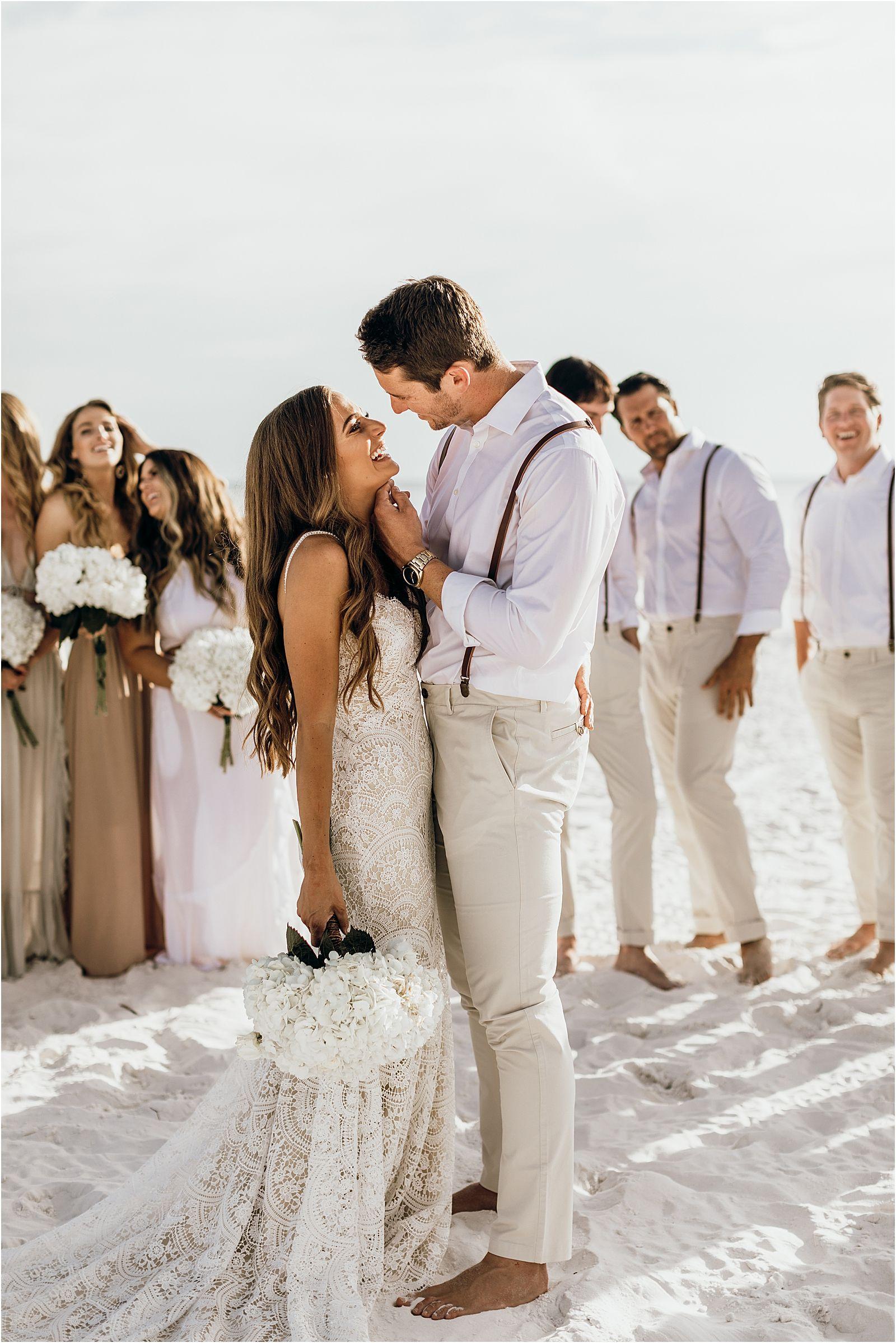 Photo of Lauren + Jon | Stones Throw Miramar, Florida Beach Destination Wedding | Love, Anneliese Photography – loveanneliese.com