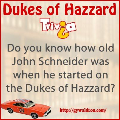 Do you know how old John Schneider was when he started on the Dukes of Hazzard?  #DukesofHazzard