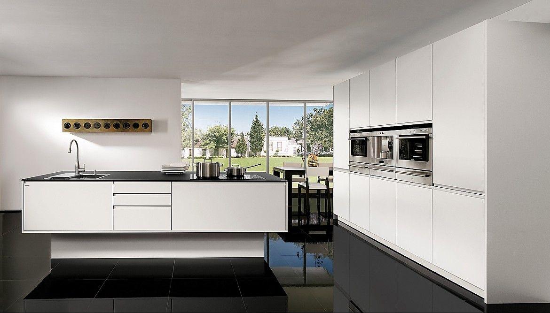 Moderne küchen mit insel schwarz  Schröder Küchen | Luna fango, Matrice woodline bambus | Notre ...