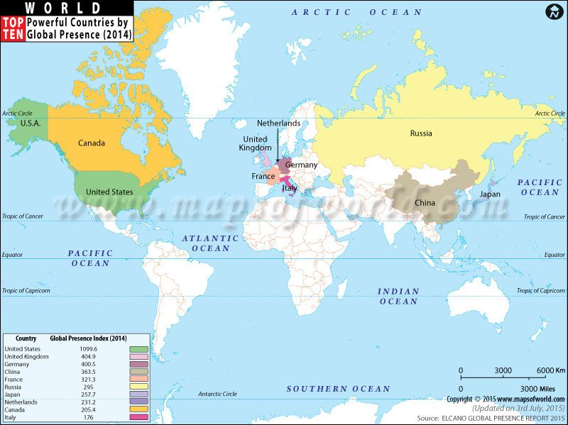 Top Ten Most Powerful Countries In The World Geography - Most powerful countries