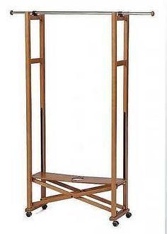 Fahrbare Garderobe Kleiderständer Der Extraklasse Holz