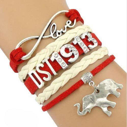 Love Delta Sigma Theta 1913 Infinity Wrap Bracelet