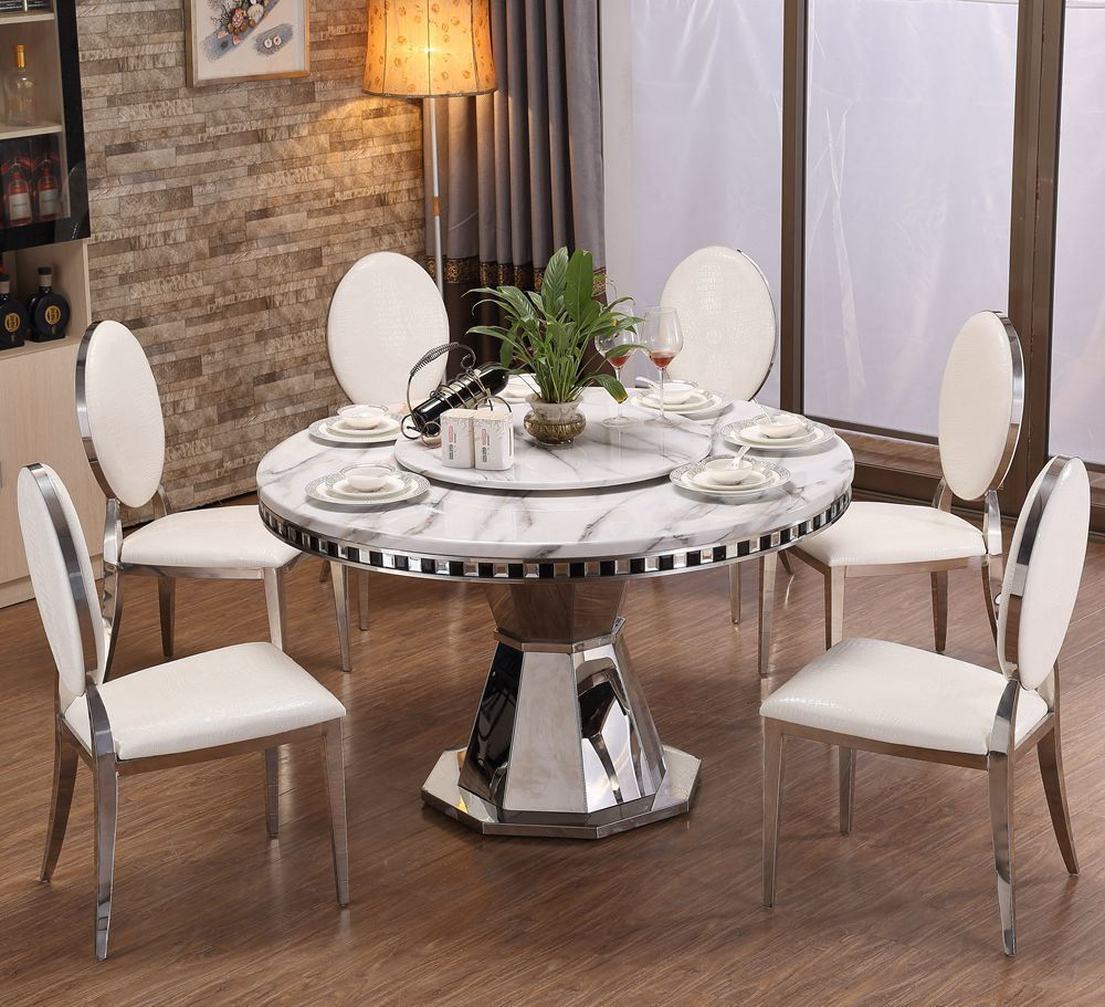Dining Room Furniture Stainless Steel Glass Rotary Round Table China Round Marble Table Ma Dining Room Furniture Stainless Steel Dining Table Room Furniture