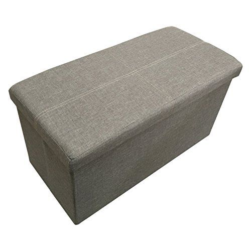Ointime Storage Strong and Sturdy Ottoman Faux Linen Foldable Waterproof Silver Grey Footstool 30x15x15'' Easy and Quick Assembly Toy and Shoe Chest Versatile Space-Saving, http://www.amazon.com/dp/B01B1OV35E/ref=cm_sw_r_pi_n_awdm_zGEGxbD4TR3EH