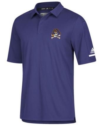 Adidas Polo Team Men's Iconic Carolina East Coaches Purple Pirates EDH9IW2