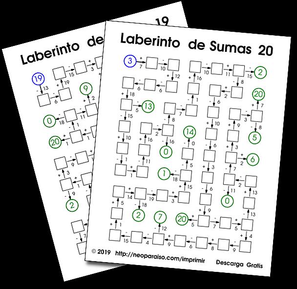 Laberinto De Sumas Y Restas Juegos Matemáticos De Repaso Laberintos Matemáticos Juegos Matematicos Para Imprimir Juegos De Matemáticas Ejercicios De Calculo