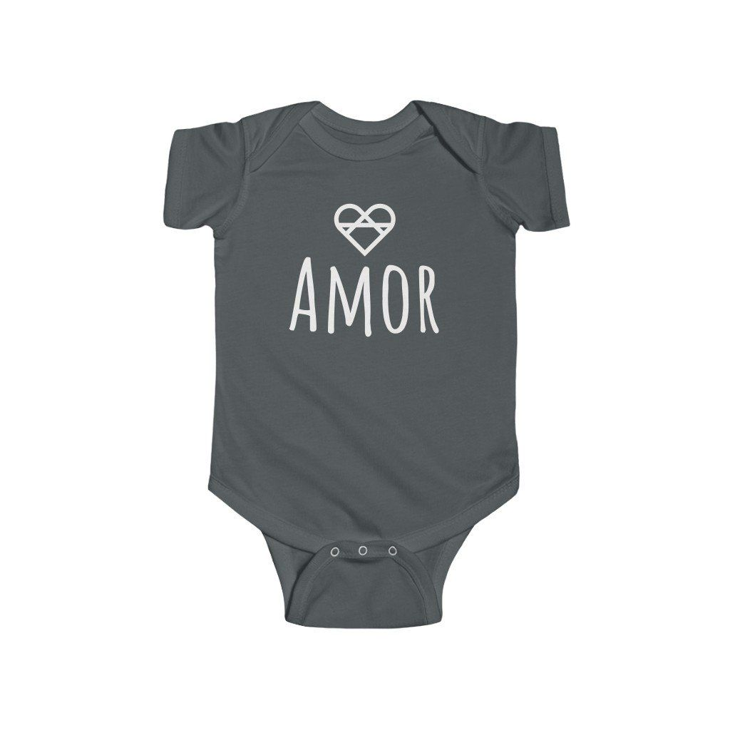 Product Details: This premium baby's love infused bodysuit was created with one simple idea that comes straight from our heart, spread love! Whether it be the comfortable fabric, high-quality design, or lovely message, we have created this baby's bodysuit with love in mind, and we know that a baby will love wearing it. This comfortable and durable baby bodysuit is a definite must-own! 100% flexible cotton with tear away label Made from high-quality materials Soft, durable, and long-lasting fabri
