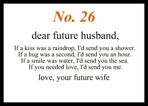 No 26 Dear Future Husband