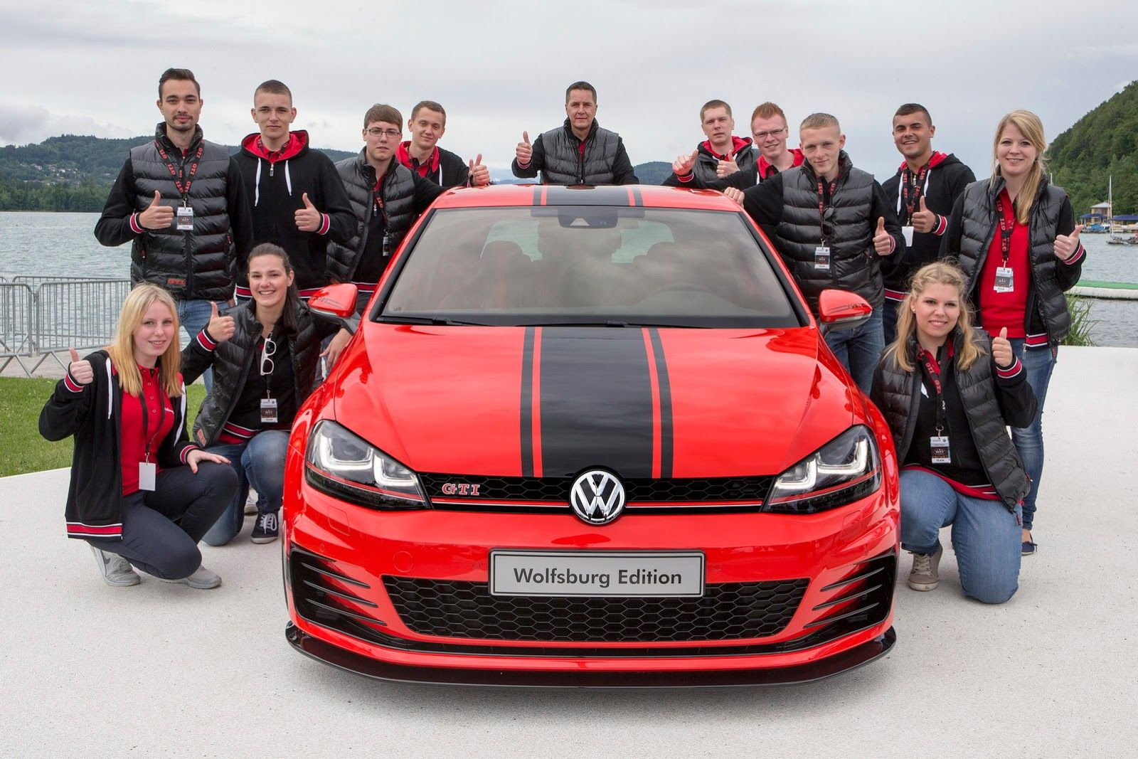 Vw Apprentices Unwrap 380ps Golf Gti Wolfsburg Edition At Worthersee Carscoops Volkswagen Polo Gti Volkswagen Golf Gti Polo Gti [ 1067 x 1600 Pixel ]