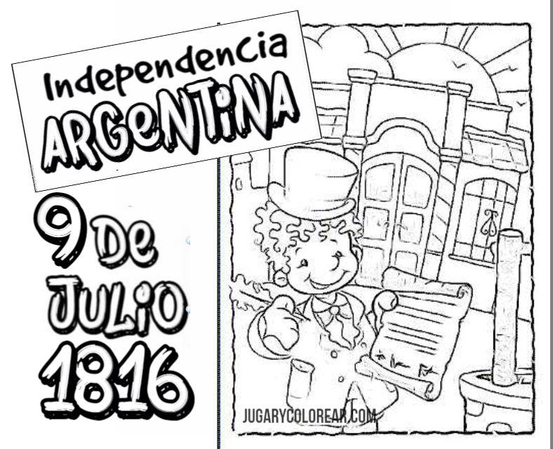 Perfecto Día De La Independencia Para Colorear Motivo - Ideas Para ...