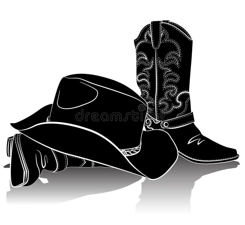 Cowboy Boots And Hat Vector Grunge Background For Text Sponsored Hat Boots Cowboy Vector Text Ad Cowboy Boots Boots Cowboy