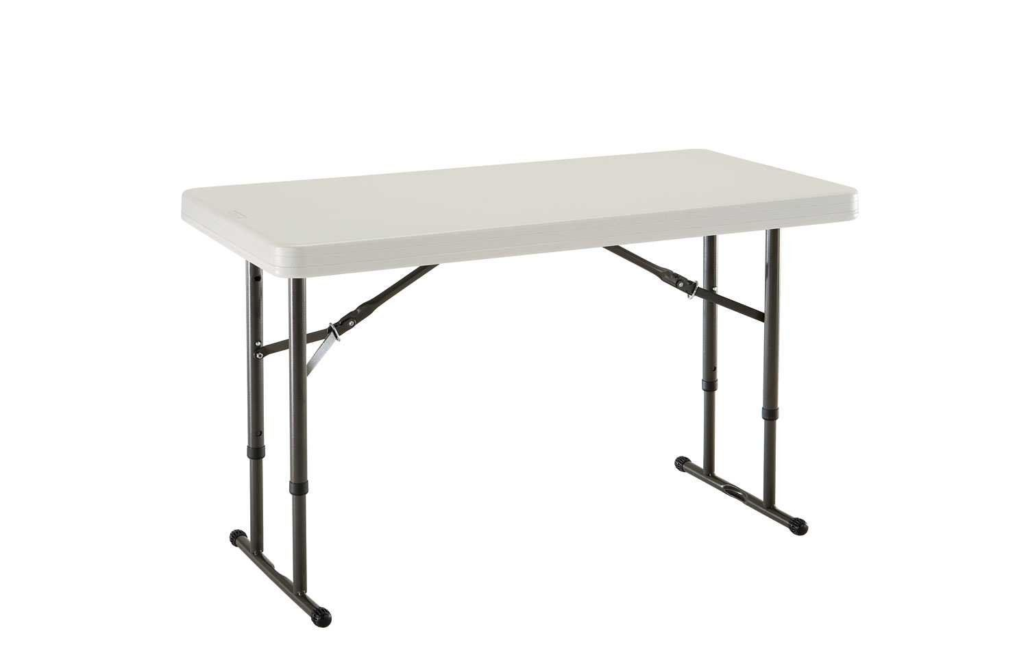 - Lifetime 80161 4-Foot Commercial Adjustable Height Folding Table