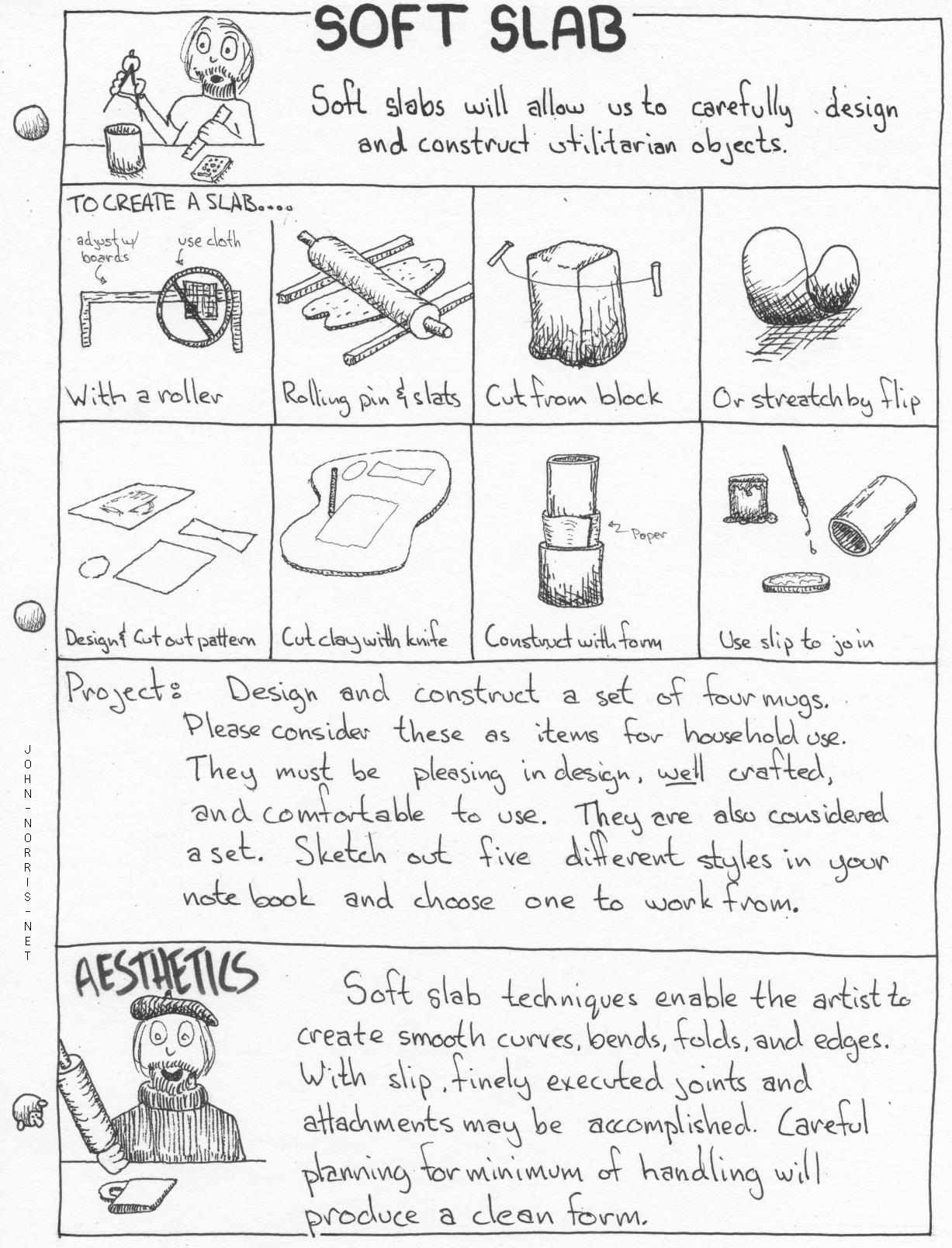 Handouts With Pottery Project Info And Instructions