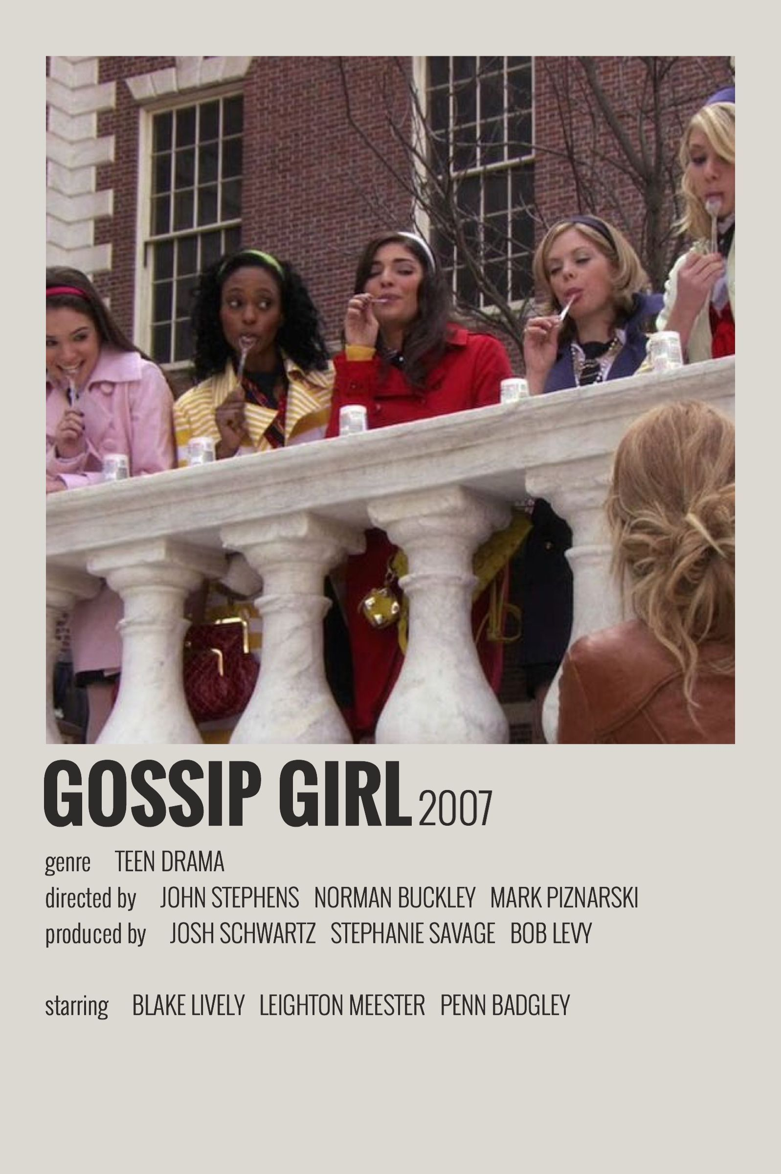 Alternative Minimalist Movie/Show Polaroid Poster – Gossip Girl –  Effektive Bil…
