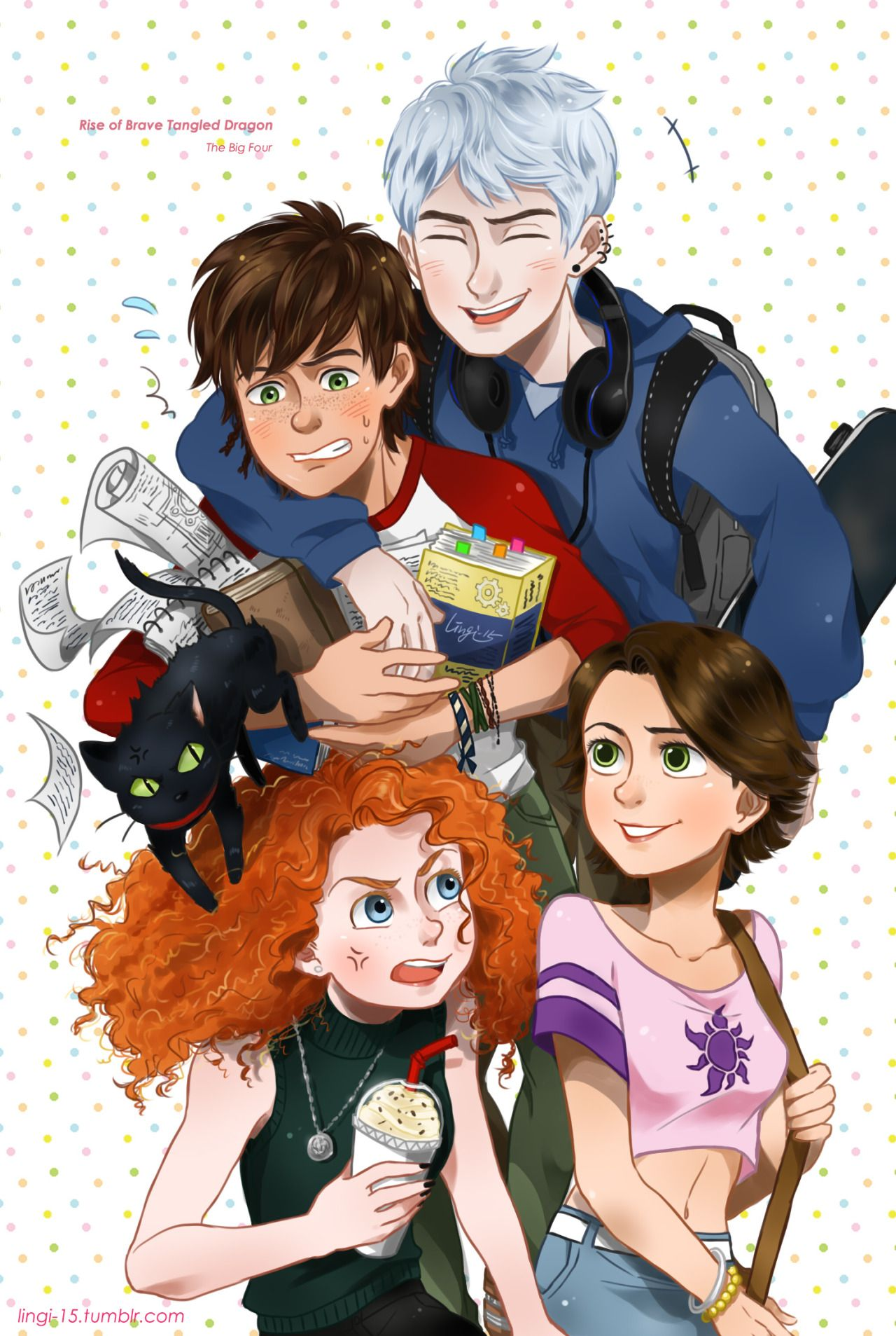 The Big Four Tumblr Desenho Animado Disney Animacao Da Disney