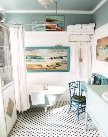 aqua bathroom