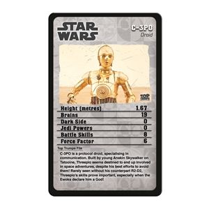 Top Trumps card game Episodes 4-6 Star Wars