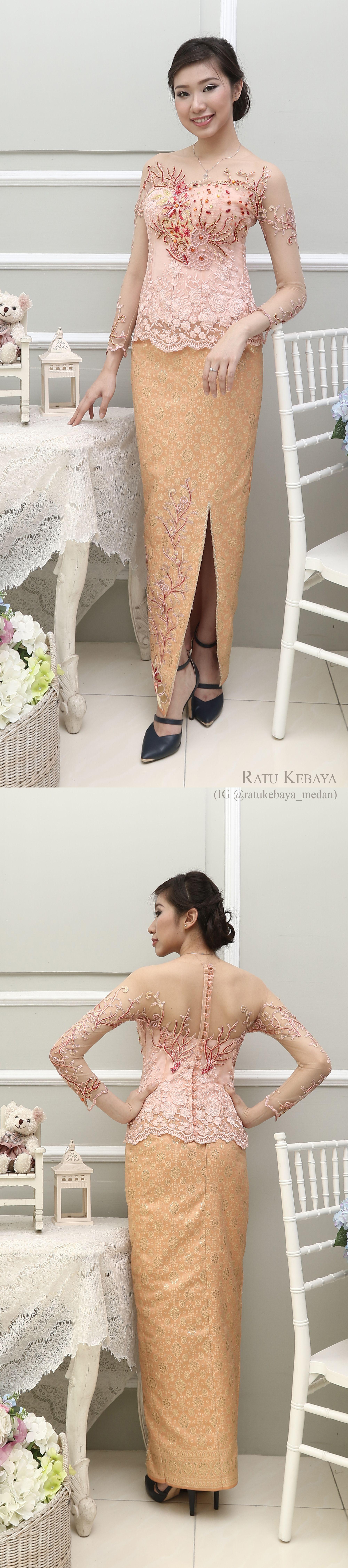 Photo of Kebaya @ratukebaya_medan. Padanan lace dan songket