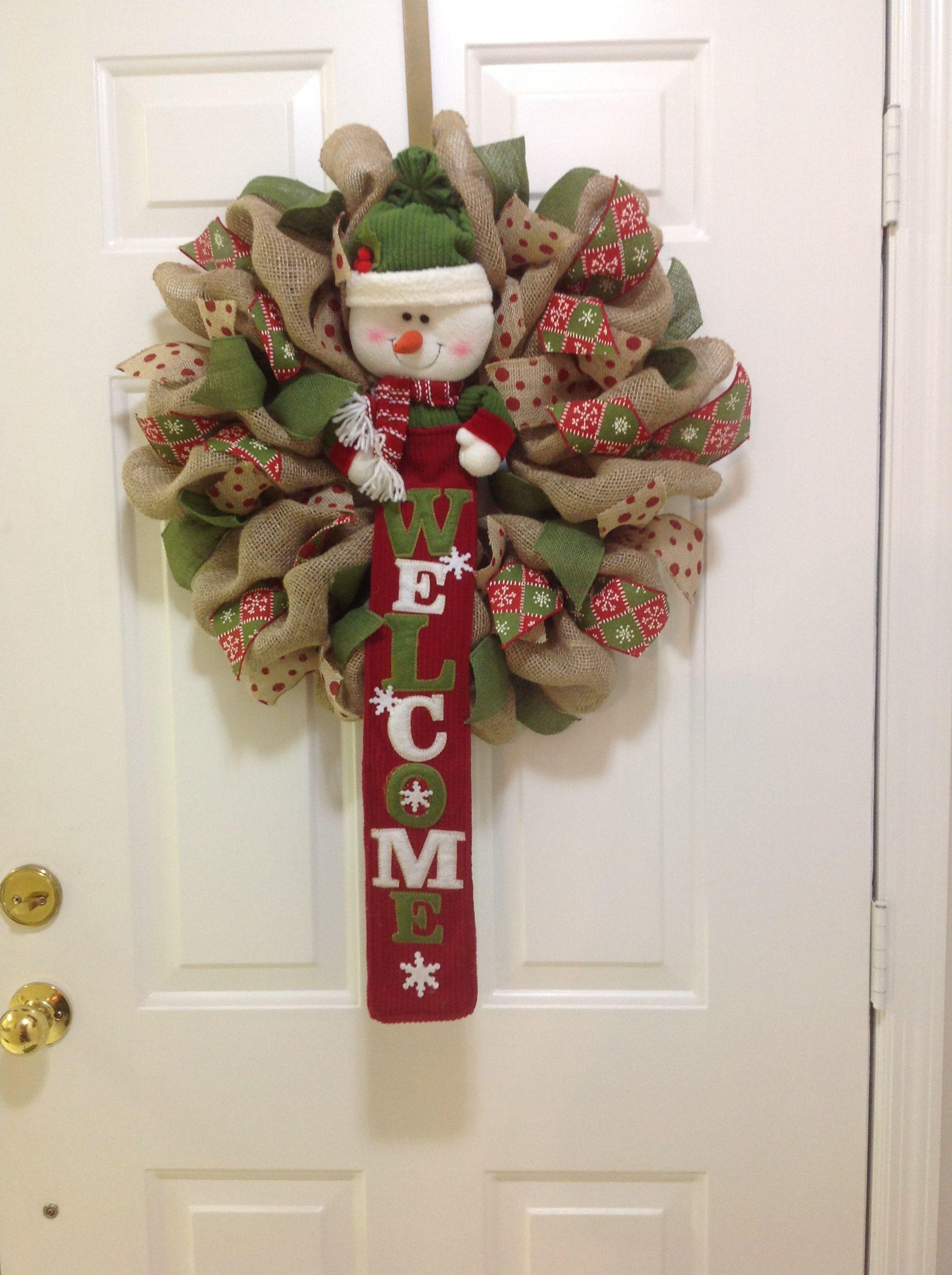 Christmas Burlap Christmas Wreath