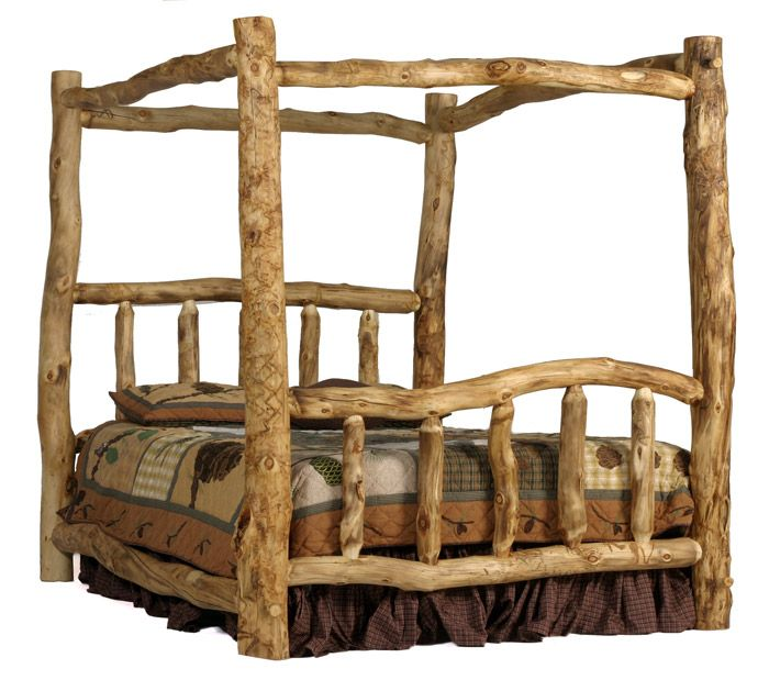Colorado Aspen Log Furniture   Canopy Bed Aspen Log Beds Colorado Aspen  Canopy Log Bed Featuring An 80 Canopy, This Gorgeous Piece Of Aspen Rustic  Log