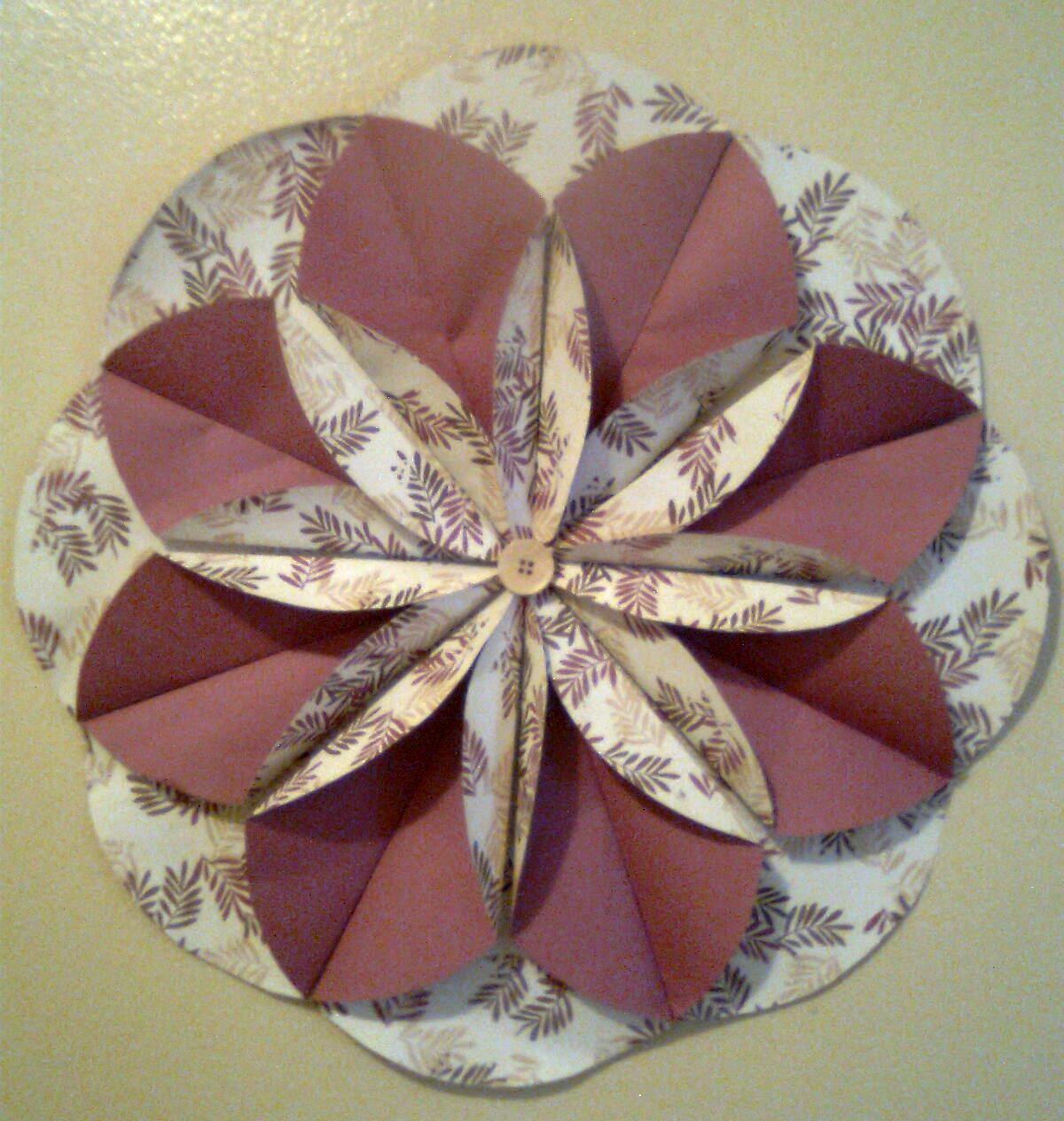 Flor de papel en 3D