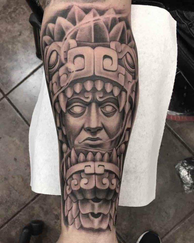 3886d612d3578 50 Of The Best Aztec Tattoos | aztec ink | Mayan tattoos, Aztec ...