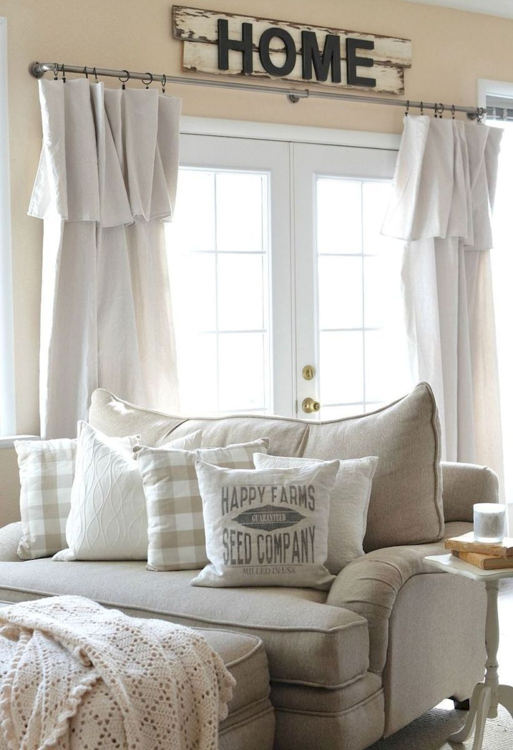 Cool modern farmhouse curtains for living room decorating ideas