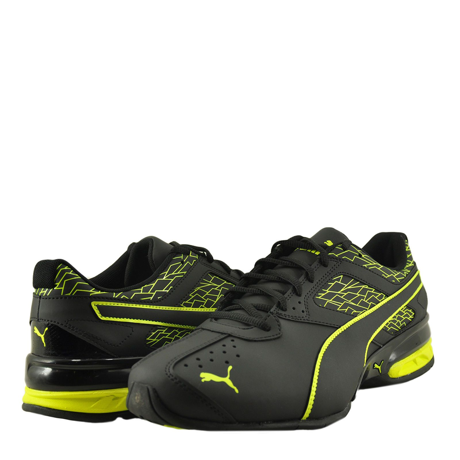 4f9a810d64b86f Men S Shoes Puma Tazon 6 Fracture Fm Sneaker 189875-05 Black Safety Yellow
