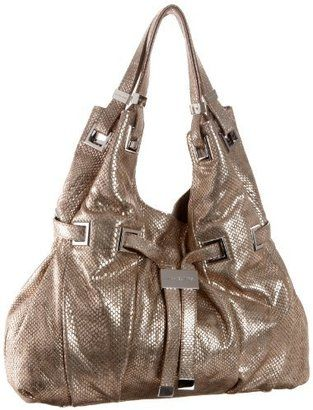 ShopStyle  MICHAEL Michael Kors Carey Large Metallic Washed Python Tote d2ba781111899