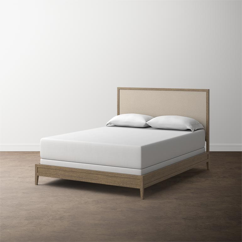 Modern Emilia Cal King Panel Bed In Multiple Finishes Wood