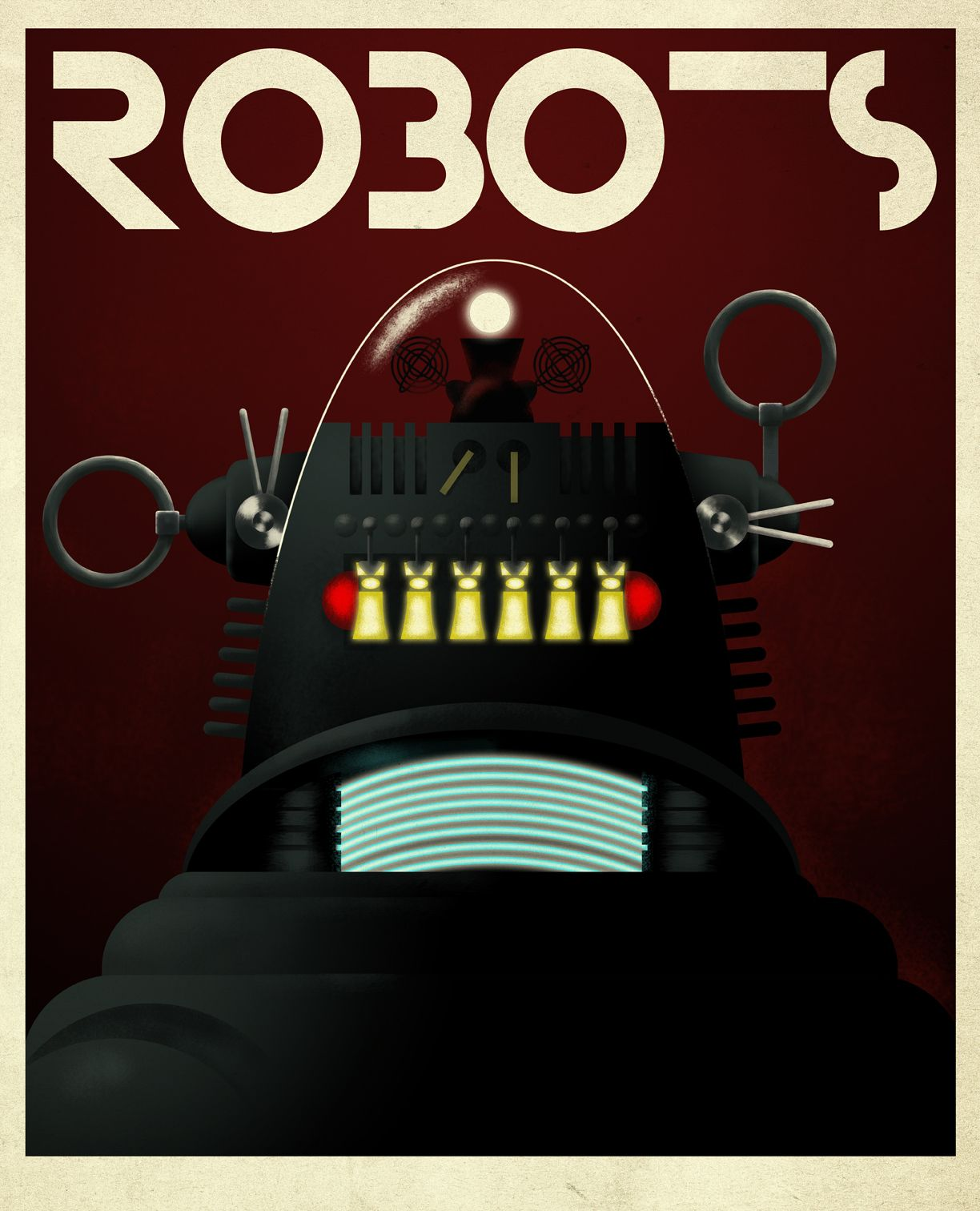 Robot Obey Science Fiction Poster 24x36
