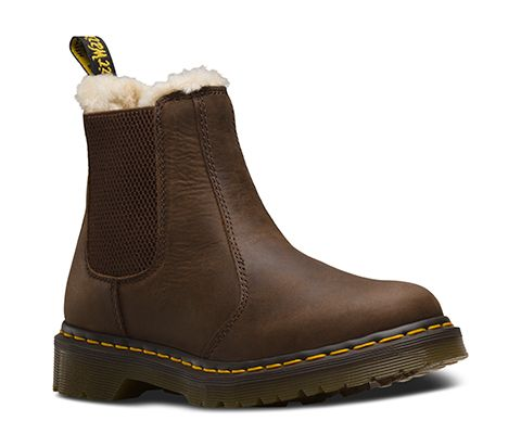 pretty nice 0d4e2 c6339 Dr martens fur-lined 2976 leonore wyoming chelsea boots ...
