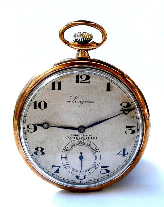 Pocket Watch Antique Longines Open Face Art Deco Circa 1925