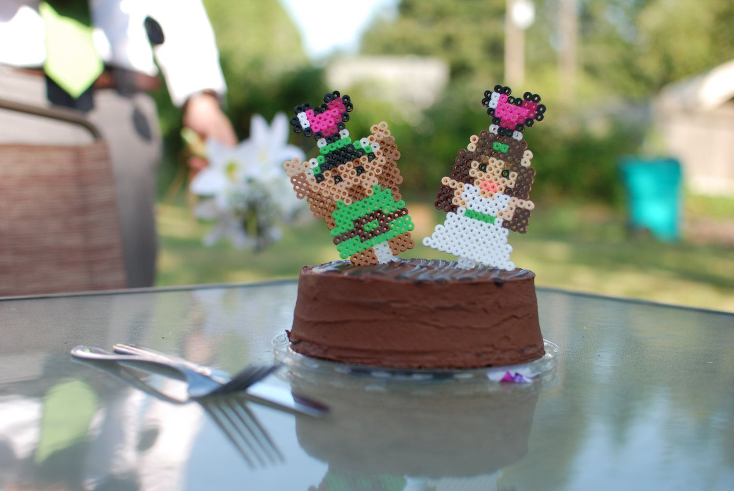 Custom 8Bit Sprite Cake Topper by WinWolfz on Etsy, $20.00