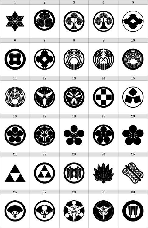 Japanese Kamon Kamon Are Emblems Used To Identify A Family
