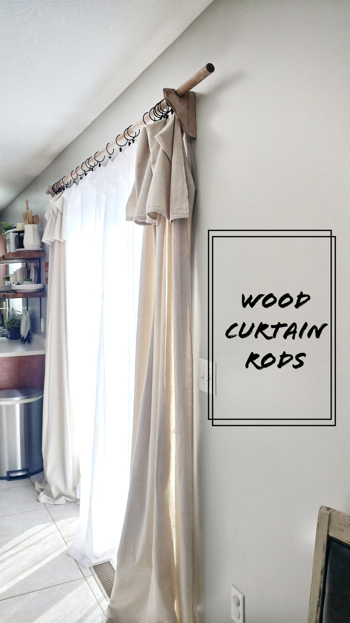 Wood Curtain Rods Life On Summerlin In 2020 Drop Cloth