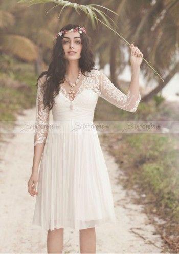 Kleid a linie lange armel