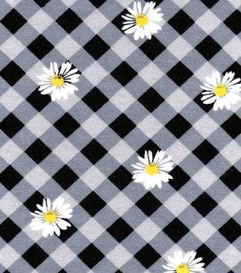 Snuggle Flannel Fabric-Daisy Gingham