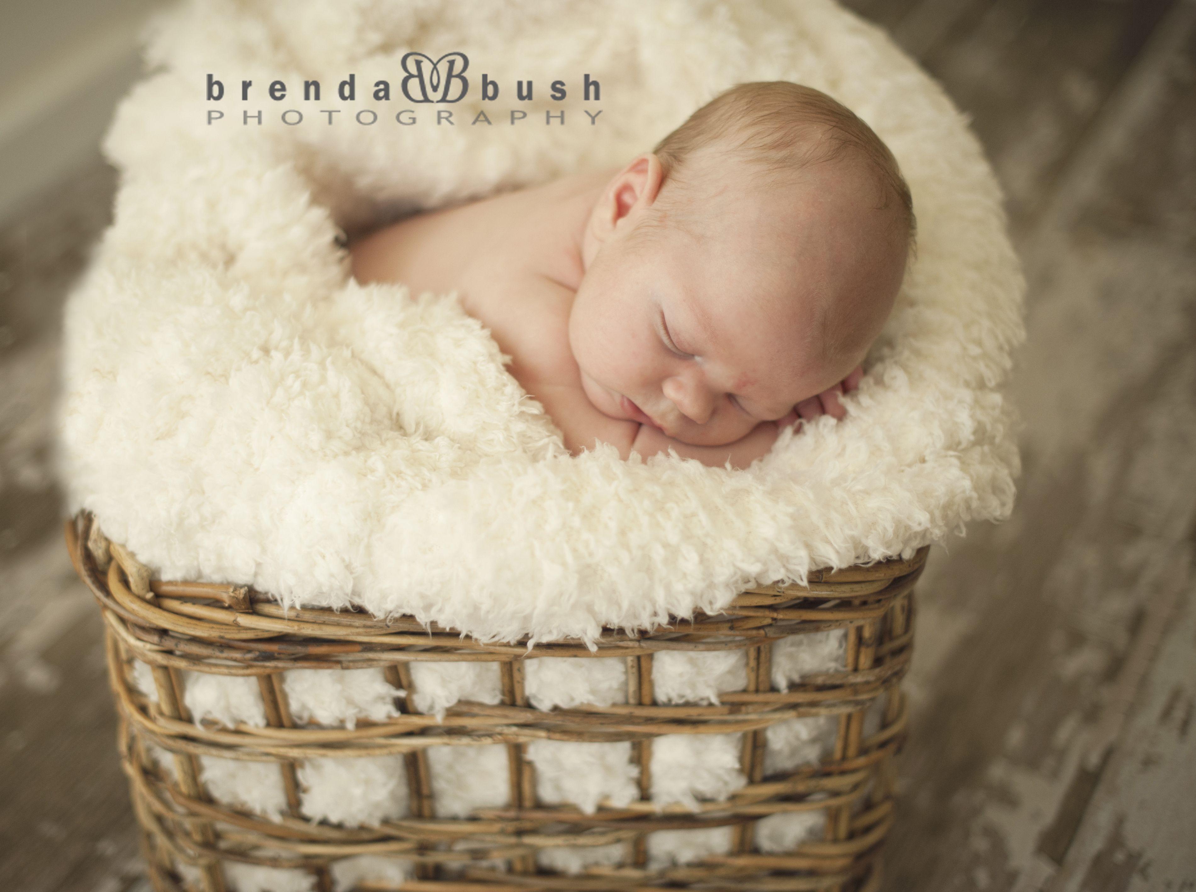 Newborn photo prop bamboo basket