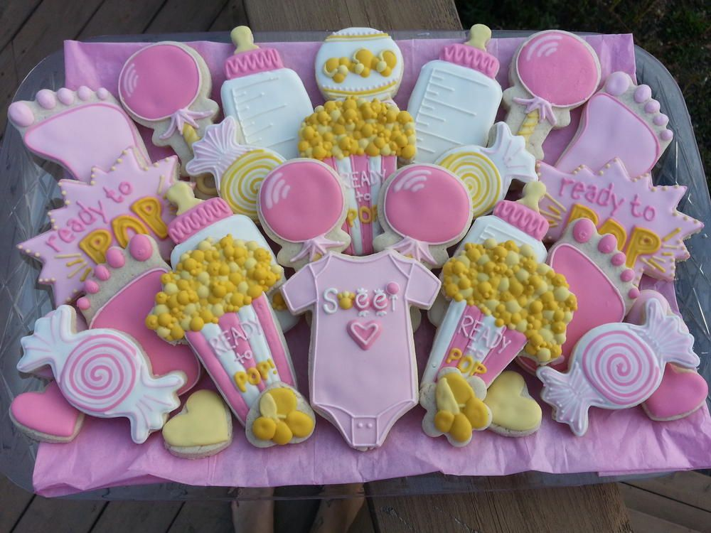 Gluten Free, Ready To POP Baby Shower Cookies