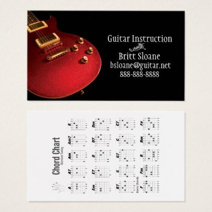 Electric guitar lessons template free chord chart business card electric guitar lessons template free chord chart business card template gifts custom diy customize reheart Choice Image