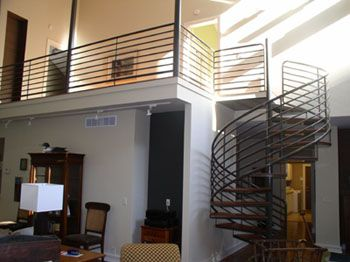 Horizontal Railing System Spiral Stairs From Of America And Innovative Metal Craft