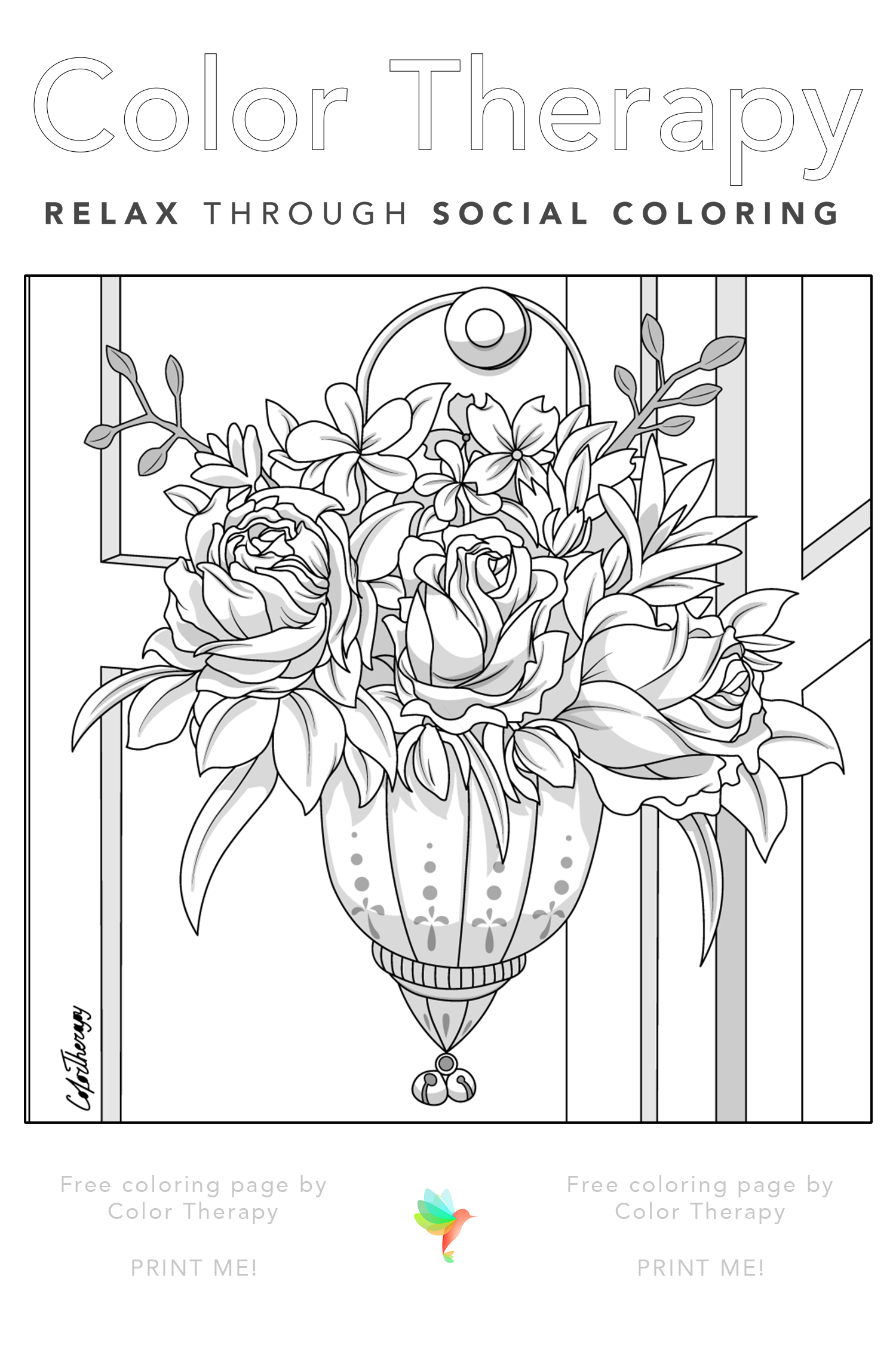 Color Therapy Gift Of The Day Free Coloring Template Cartoon Coloring Pages Coloring Book Art Free Coloring Pages