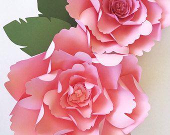 Large peony paper flower template diy instant download template large peony paper flower template diy instant download template with video tutorial paper flower mightylinksfo