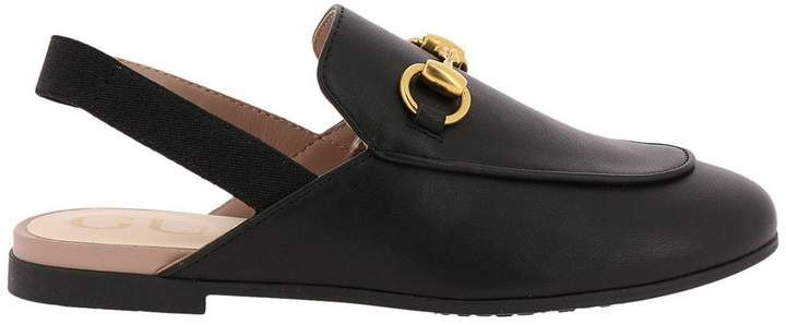 d4a34e474 Gucci Black Shoes For Little Boy   Gucci Shoes 478188 CPWY0 on sale online  at Giglio.com