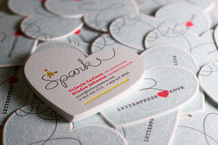 Heart shaped business cards oxynux heart shaped letterpress business cards deisgn pinterest colourmoves