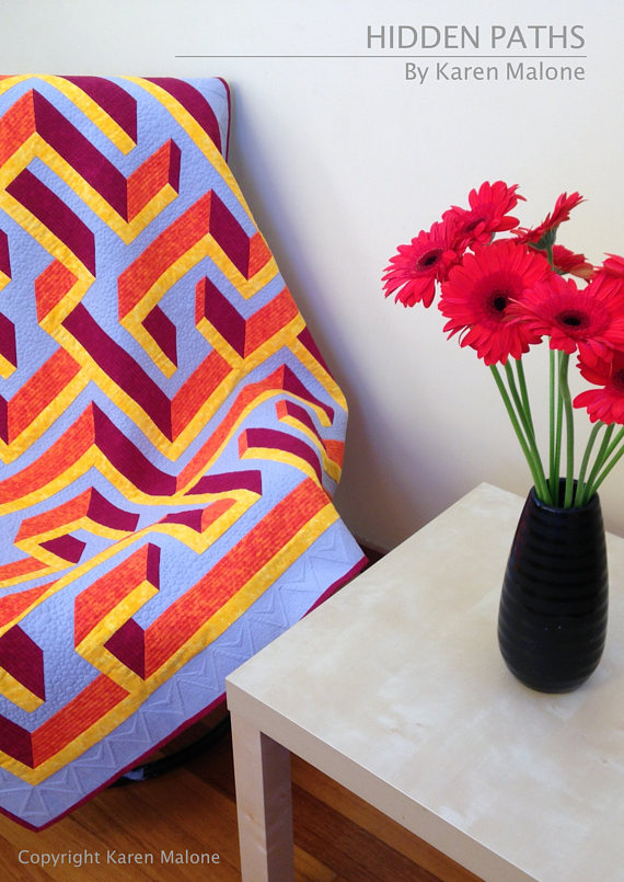 Wall 3d Maze Labyrinth Quilt Pattern Pdf Hidden Paths Craft